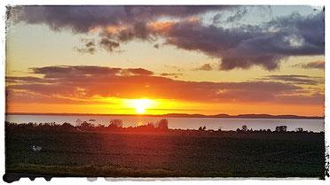 Sonnenuntergang  am Glower Ostseestrand