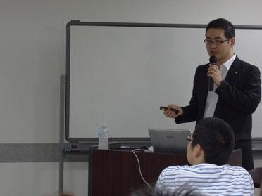 原田塾長の講演の様子