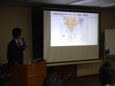 大川さんの講演の様子 その1