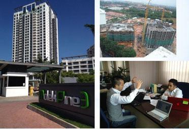 海外視察に行った時の工事現場やビルの写真