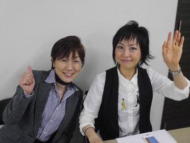 大家塾受付担当の米生さんと原田さん