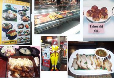 海外視察に行った時の、海外のレストランメニューや料理の写真