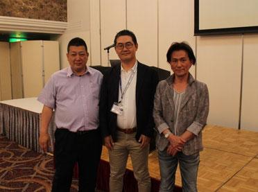 講師集合写真 左から、大川護郎さん・原田塾長・木全雅仁さん