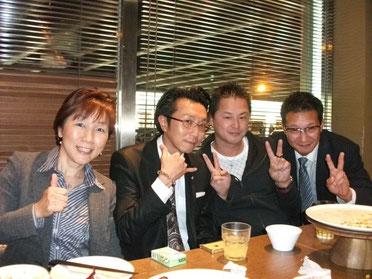傍島さんと参加者3名の記念写真