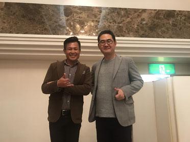 講師集合写真 左から、西野浩樹さん・原田塾長