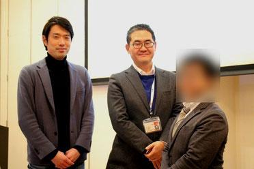 講師集合写真 左から、高尾友喜さん・原田塾長・ドクターKさん