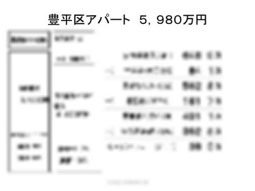 豊平区アパート5980万円のキャッシュフロー算出
