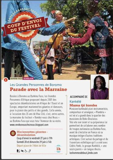 Extrait du programme du festival