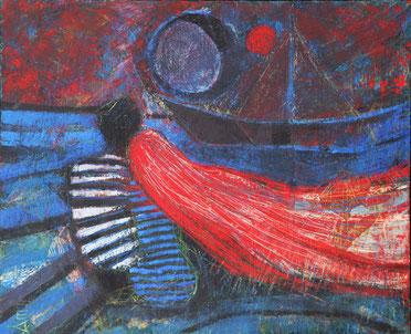 "Tarasenko Anna, ""Melancholie"", Öl auf Leinwand,  85,5 x 70 cm, 2011, gerahmt"