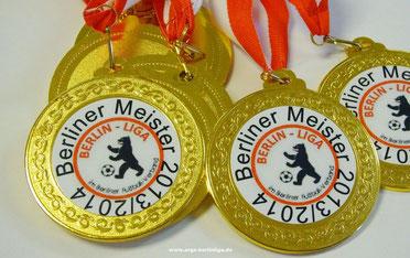 Jeder Spieler erhielt eine Medaille zur Erinnerung an die Meisterschaft