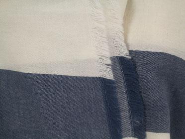 Webschal blaue Streifen