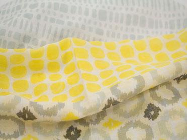 Damen Loop mit gelbem Muster