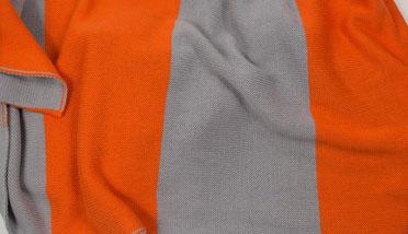 Wendeschal Strick Grau/Orange
