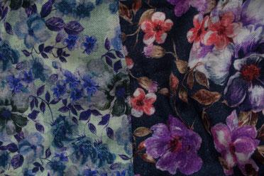 Wendeschal mit Blumenmuster