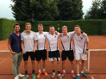Von links nach rechts: Tom Meisen, Kai Reucher, Ferdinand Lein, Kai Lutterklas, Tim Luther, Damian Weber