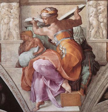 "Michelangelo, ""Sibilla Libica"", Cappella Sistina"