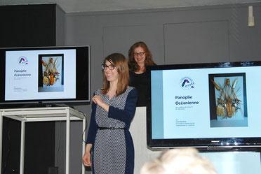Agathe Jaggerschmidt présente Cécile Mouillard, conférencière du jour. Photo Yvan François