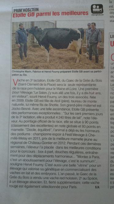 L'ANJOU AGRICOLE 21/02/14 N°3366