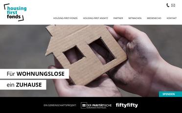 Bildschirmfoto Website housing first
