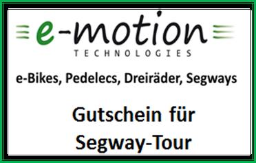 e-motion Tuttlingen Gutschein für Segway-Tour