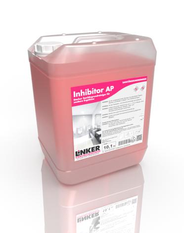 Inhibitor.Sanitär AP_Linker Chemie-Group, Reinigungschemie, Reinigungsmittel, Sanitärreiniger, Bäderreiniger, Putzmittel, Toilettenputzmittel, Reinigung Bad