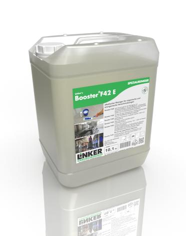 Booster F42 E, alkalischer Schonreiniger, Linker Chemie, Reinigungsmittel