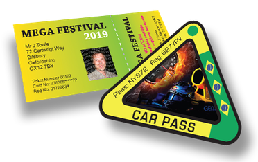 Printed Festival Passes & Car Passes
