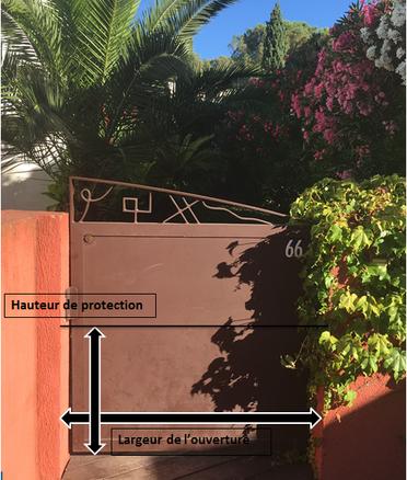 Dimensions pour montage barrières anti inondations pour protection contre les inondations