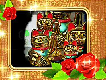Winkende Katze Maneki-neko Glückskatze China-Restaurant linke Pfote bedeutet Glück Katzenfiguren Katzengottheit mythische Göttin Isis Bastet Pallas Athene Mutter Gottes Maria Hilf Mitgefühl Archetyp Herz-Sutra Göttin der Herzen