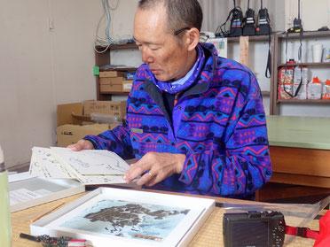 ブリザードの余暇に、昭和基地の地形模型を作る。