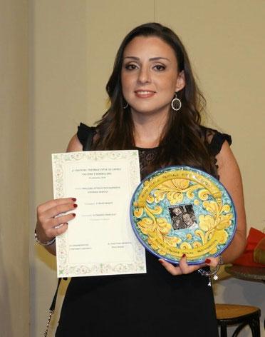 Stefania Gentile vince il premio migliore attrice protagonista - Compagnia Teatrale i Frastornati
