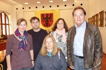 """Die neue Vorstandschaft"" v. li. Tanja Hanßen, Johannes Baum, Claudia Franke, Sylvia Smatloch, Bernhard Lehmeier"