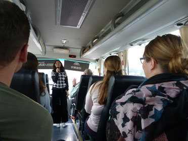 """Our Guide Mrs. """"New"""" who led us to the Terracotta Army."""