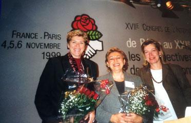 Bild: Foto: EP, 100 Jahre SIW, Internationaler Frauen-Kongress, Lissy Gröner, Anna Karamanou