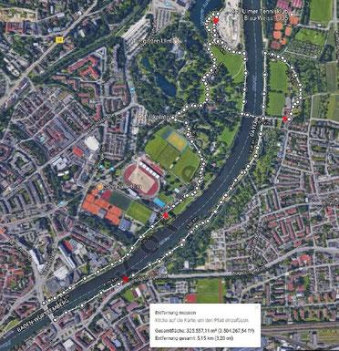 Übersicht Laufstrecke / Foto aus Sitzungsvorlage