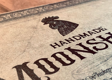 Handmade Moonshine Zertifikat Michael Seher Broschüre O'Donnell