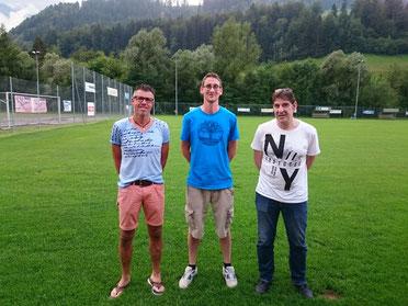 Neue sportliche Leitung v.l.n.r. Rolf Maurer (Sportchef), Max Abbühl (Vizepräsident und SPIKO), Francesco Zizzo (Trainer erste Mannschaft)