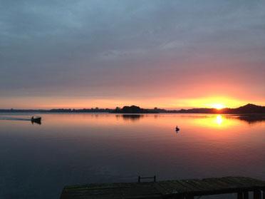 Sonnenaufgang am Schaalsee