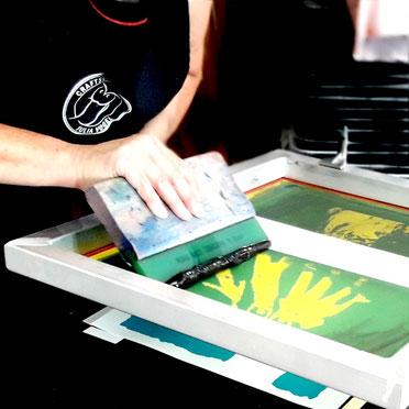 Siebdruck Workshop aktiv mitgestalten
