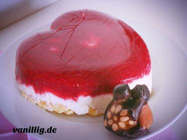 Valentinstag, valentinstorte, herztorte, torte, Cheescake, No-Bake Torte,