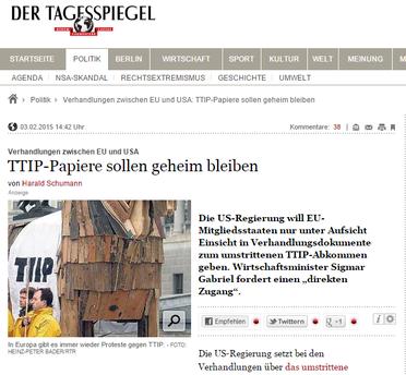 Link zu Der Tagesspiegel 03.02.2015