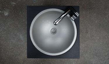 Waschbeckenmodul von oben aus Edelstahl