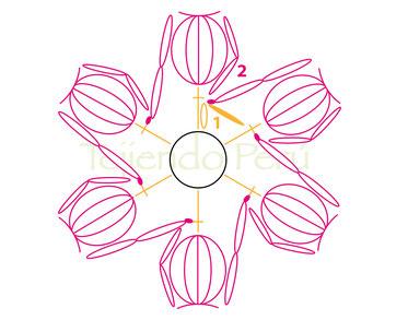 Bolso con mollie flowers tejidas a crochet!