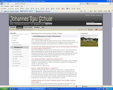 Johannes-Rau-Schule Wuppertal (Screenshot vom 21.01.2014)