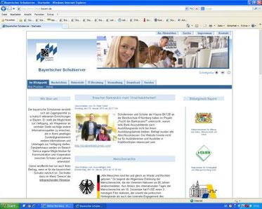 Bayerischer Schulserver (Screenshot vom 20.01.2014)