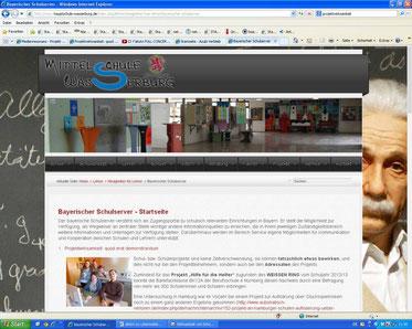 Mittelschule Wasserburg (Screenshot vom 26.01.2014)
