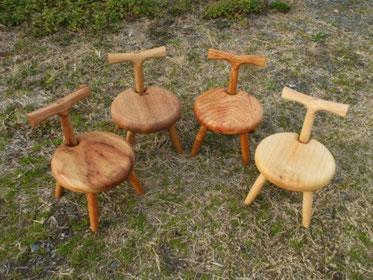 子供椅子 木の椅子 カブトムシ 玄関 ご年配