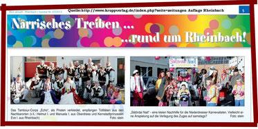 Spielmannszug Niederdrees Karneval im Dorf