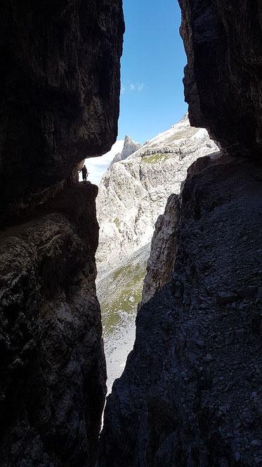 D a s  Fotomotiv auf der Strada degli Alpini (Foto: R. Jöbstl)