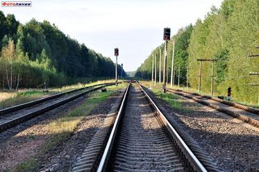 Станция Тощица. Выходные светофоры Ч3, Ч1 и Ч2